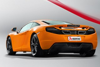 mclaren mp4 12c akrapovic