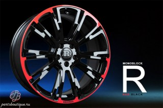Литые диски Brabus Monoblock R Red/Black